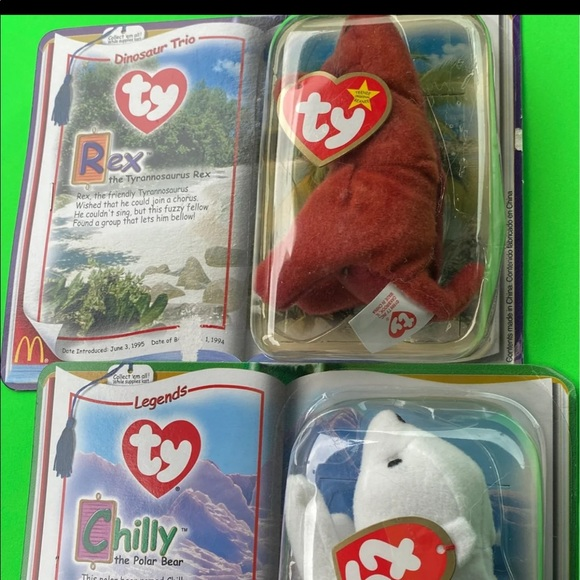 Chilly & Rex beanie babies